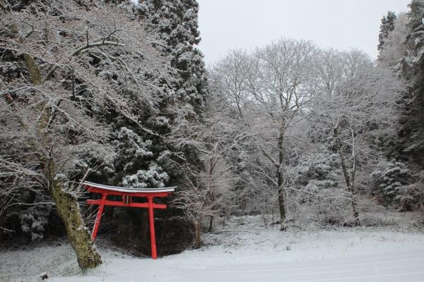 洗馬_春の雪