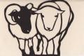 2015年賀切り絵 羊