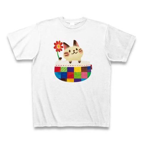 ねこポッケTシャツ_ちょこじろー