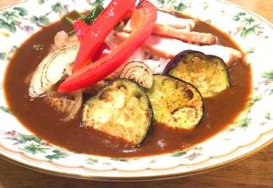 スモークチキン夏野菜カレー