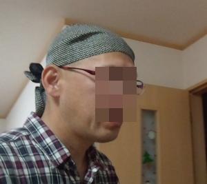 20150412バンダナ帽子