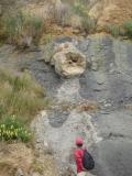 崖のボルダー