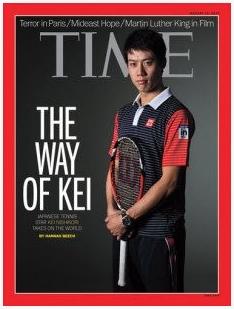 TIMEの最新号で錦織選手が表紙を飾る