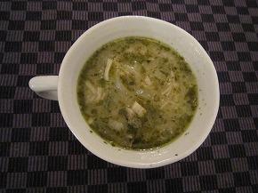 長芋と人参葉のスープ