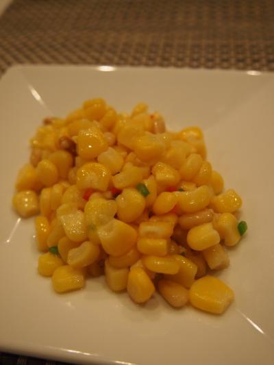トウモロコシ炒め(御膳坊)