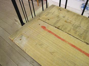 アップサイクル 古材 折りたたみ カウンターテーブル