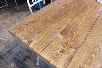 ダイニングテーブル オリジナル 鉄脚 Re-design Co.restyle セミオーダー