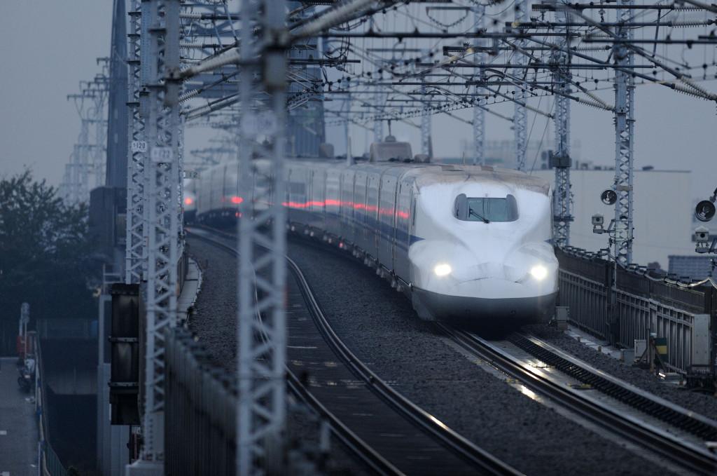 東海道新幹線 N700系 西馬込跨線橋