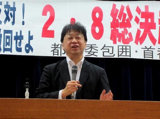斎藤貴男(ジャーナリスト)も、NHKに何度か出演していた利害関係者であるだけではなく、「マスコミ九条の会」呼びかけ人であり、「『日の丸・君が代』は侵略戦争のシンボル」などと訴える反日テロ集団の集会で登壇