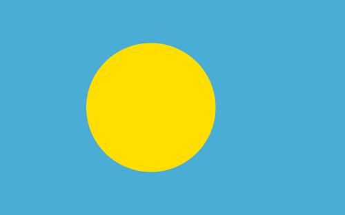 パラオ国旗は日の丸を模している
