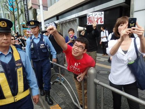 木野トシキ。第二次朝鮮征伐・桜田秋祭り(2014年9月7日、日曜日)