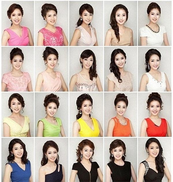 韓国のミスコンでは、「美容術の結果、みんな同じような顔になってしまった」という問題提起があり