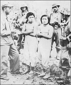 韓国・アメリカ軍に捕えられた北朝鮮軍看護婦。捕えられた北朝鮮女性はレイプされたり強制的に慰安婦にさせられることもあった