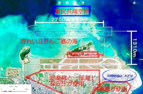 例えば、那覇空港の拡張でも、埋め立てを行うことになっている