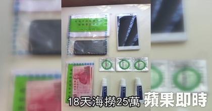 警察官が金の持ち物を調べたところ、コンドームや潤滑ゼリーが出てきたため、警察署に連行した。