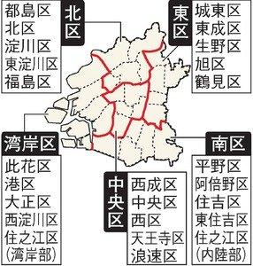 大阪都構想の5特別区