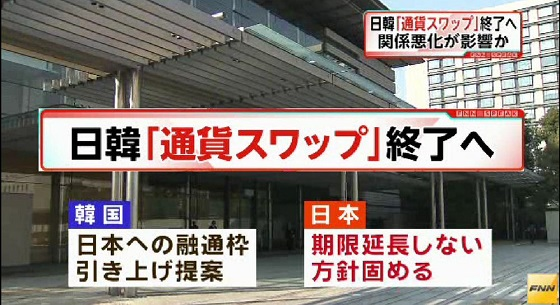 日本政府、日韓「通貨スワップ協定」を延長しない方針固める