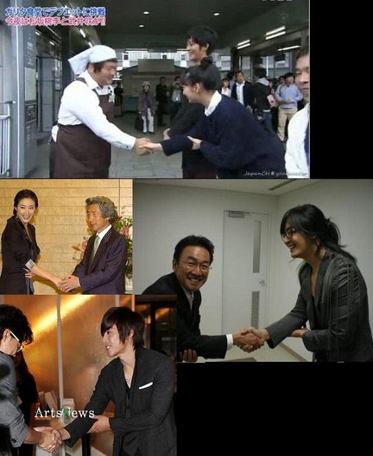 日本にはびこる朝鮮式お辞儀に加えて朝鮮式握手も殲滅すべし!