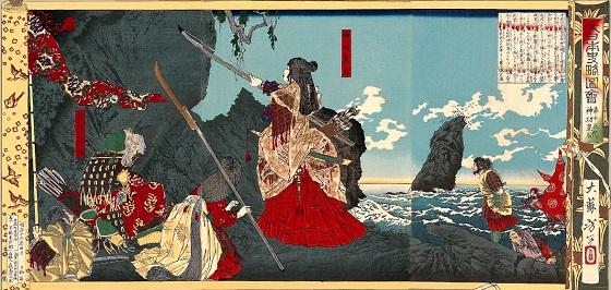 朝鮮遠征。1880年月岡芳年