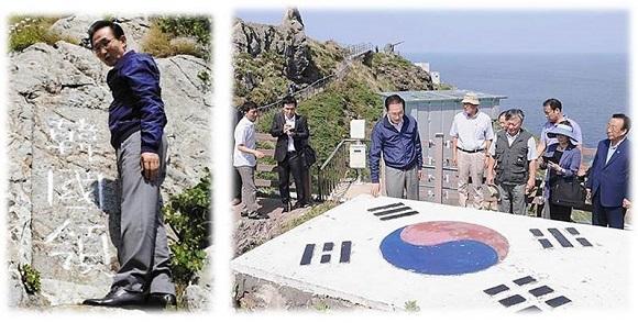 韓国の李大統領が竹島に不法上陸して「韓国領土である」と改めて主張(現職大統領による上陸は初)