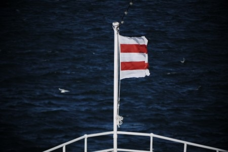 日本郵船社旗=「二引」の旗