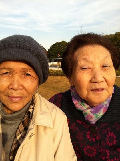 舟橋龍一の2人の祖母(左が母の母フィリピン人、右が父の母韓国人)