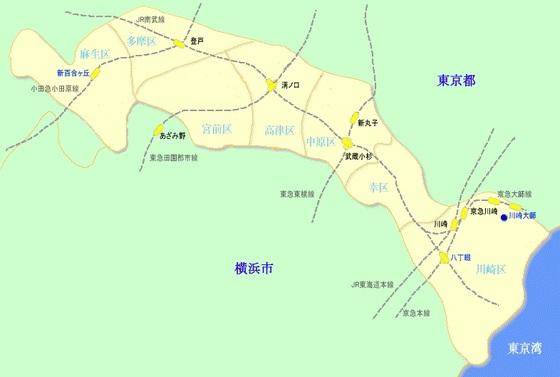 川崎危険地域川崎市地図