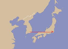 足跡:韓国慶尚南道→1)川崎、→2)川崎・埼玉・千葉