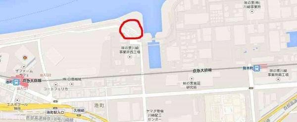 上村遼太(うえむらりょうた)君殺害 多摩川河川敷殺人事件 現場付近の地図