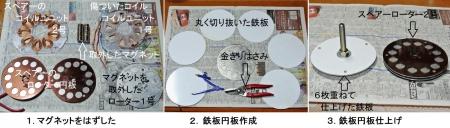 DIY15_3_11 マグネット貼付け鉄円板