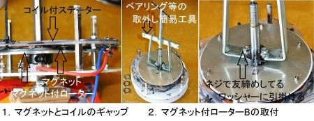 DIY15_3_17 ローター・ステーター組付け1