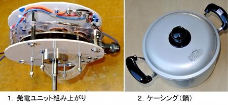 DIY15_3_18 発電ユニットとケーシング