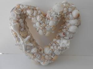 貝殻シェルハートリース