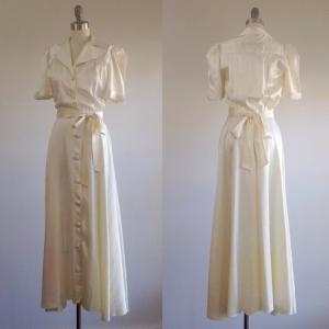 ビンテージウェディングドレス1940年代サテン