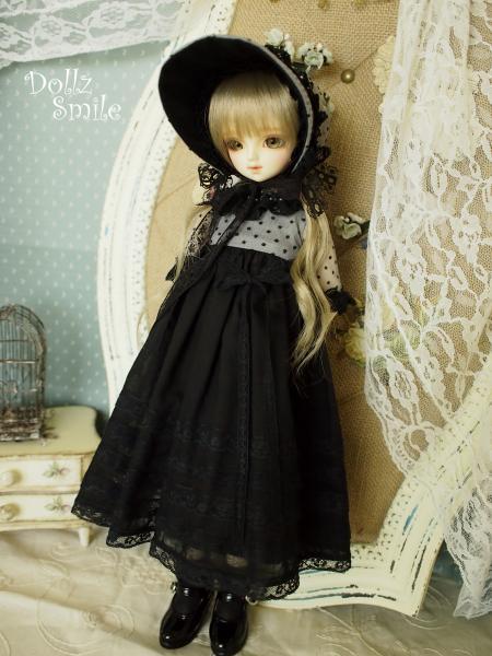 ミディっ子ドレス 黒 1