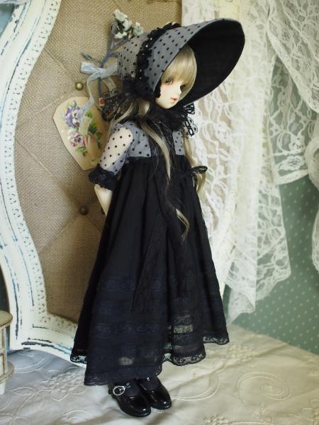 ミニっ子ドレス 黒 4