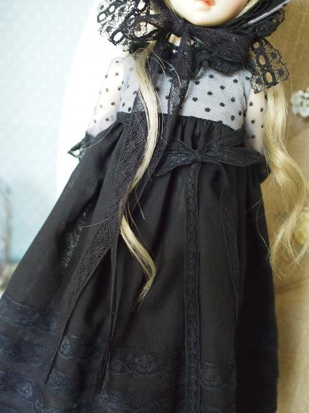 ミニっ子ドレス 黒 5