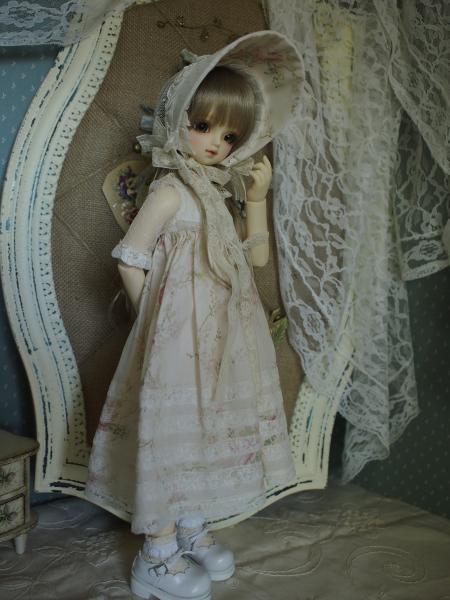 ミニっ子ドレス 薔薇柄 3