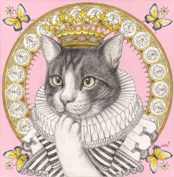 王冠とネコ