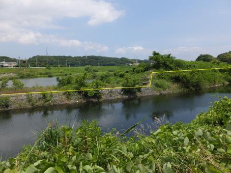 境川・下飯田遊水地越流堤