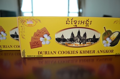 Durian Cookies box