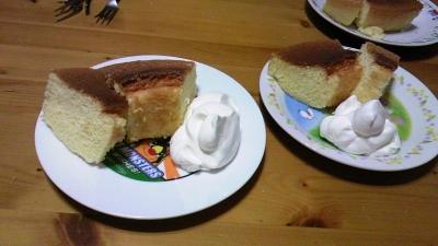 シフォンケーキでお祝い