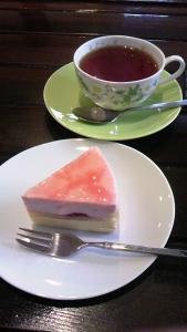イチゴのムースケーキ♪