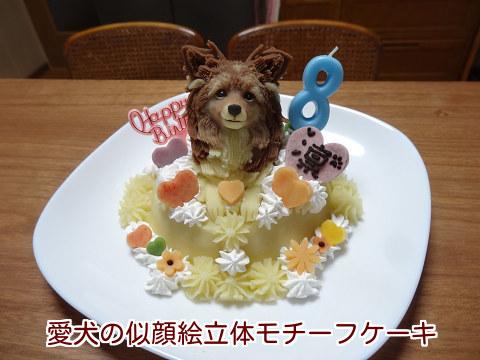 20141217 愛犬の似顔絵立体モチーフケーキ♪【凛】