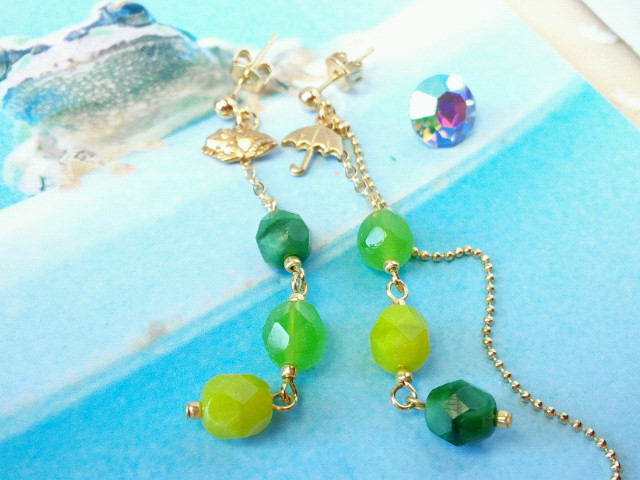 蛙と緑FPのピアス2