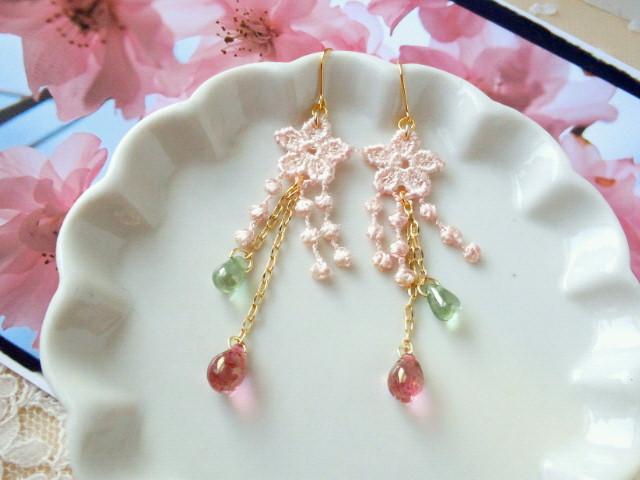 枝垂桜のピアス1