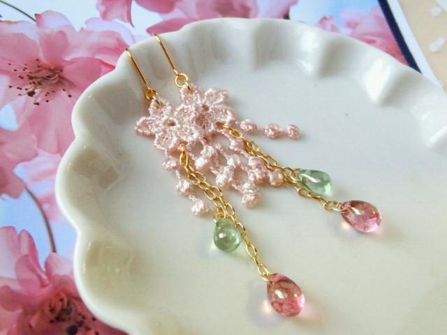 枝垂桜のピアス2