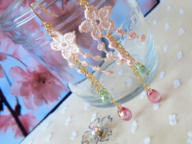 枝垂桜のピアス3