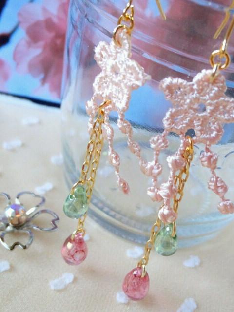 枝垂桜のピアス4