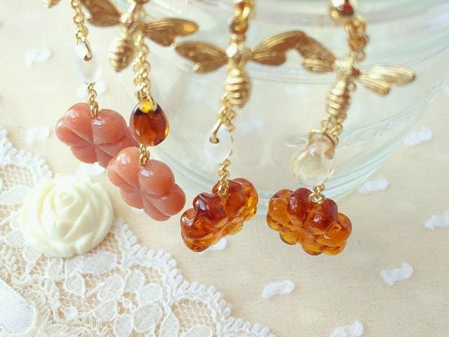 蜜蜂とお花キャンディのピアス4